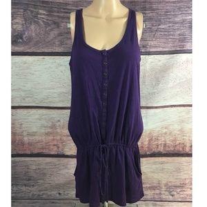 Express Romper Women's Medium Sleeveless Purple